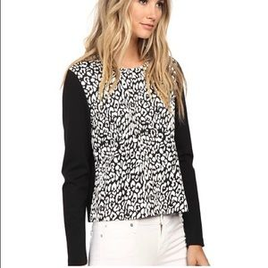 Kate Spade Leopard Print Panel Top